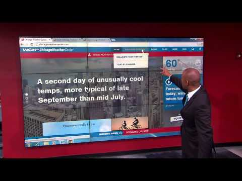 Demetrius Ivory Shows How to Use the New WGN Weather Page