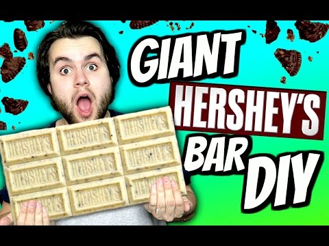 DIY Giant Hershey's Cookies & Cream Bar!  How To Make A HUGE White Chocolate Oreo Candy Bar!