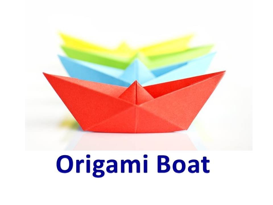 how to make an origami boat video youtube