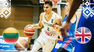 Lithuania v Great Britain - Full Game - FIBA U18 European Championship 2018