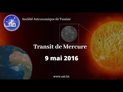 Transit de Mercure, 9 mai 2016  (Société Astronomique de Tunisie-SAT)