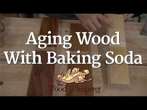 Aging Wood With Baking Soda Youtube
