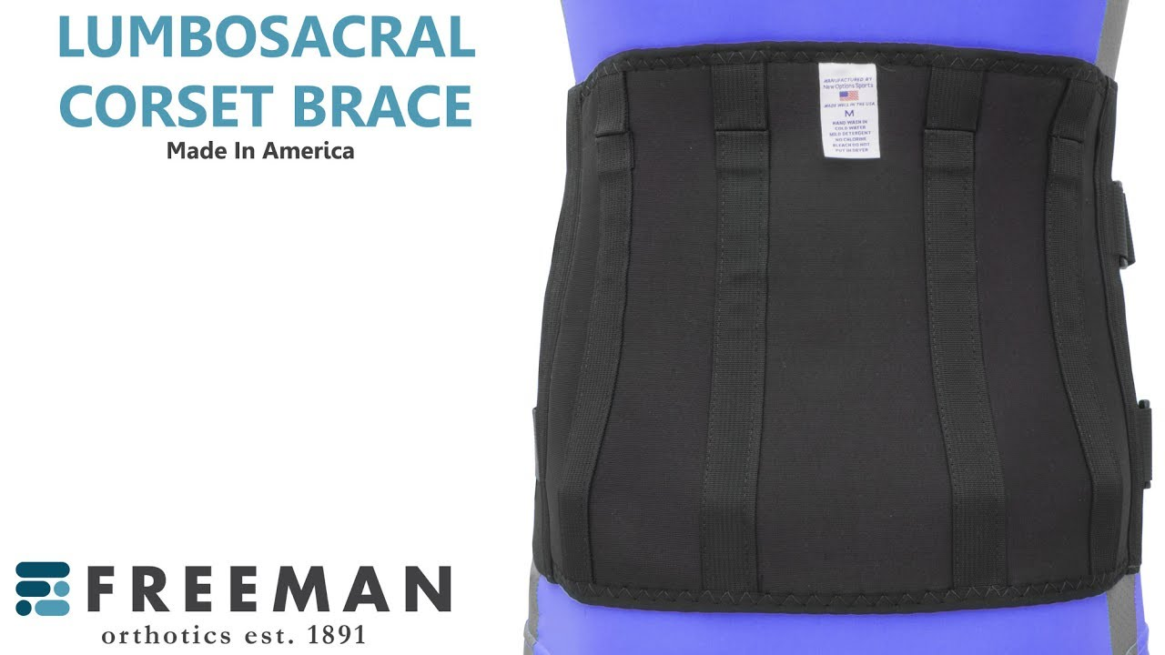 Plus Size Lumbosacral Corset Obesity Back Brace