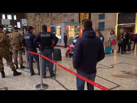 Coronavirus, a Milano scattano i controlli in Stazione Centrale