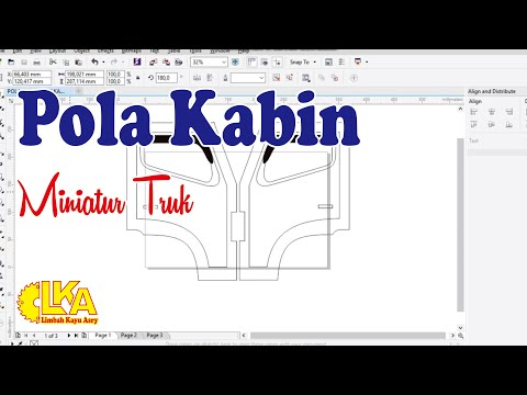 Pola Kabin Miniatur Truk Corel Draw Youtube