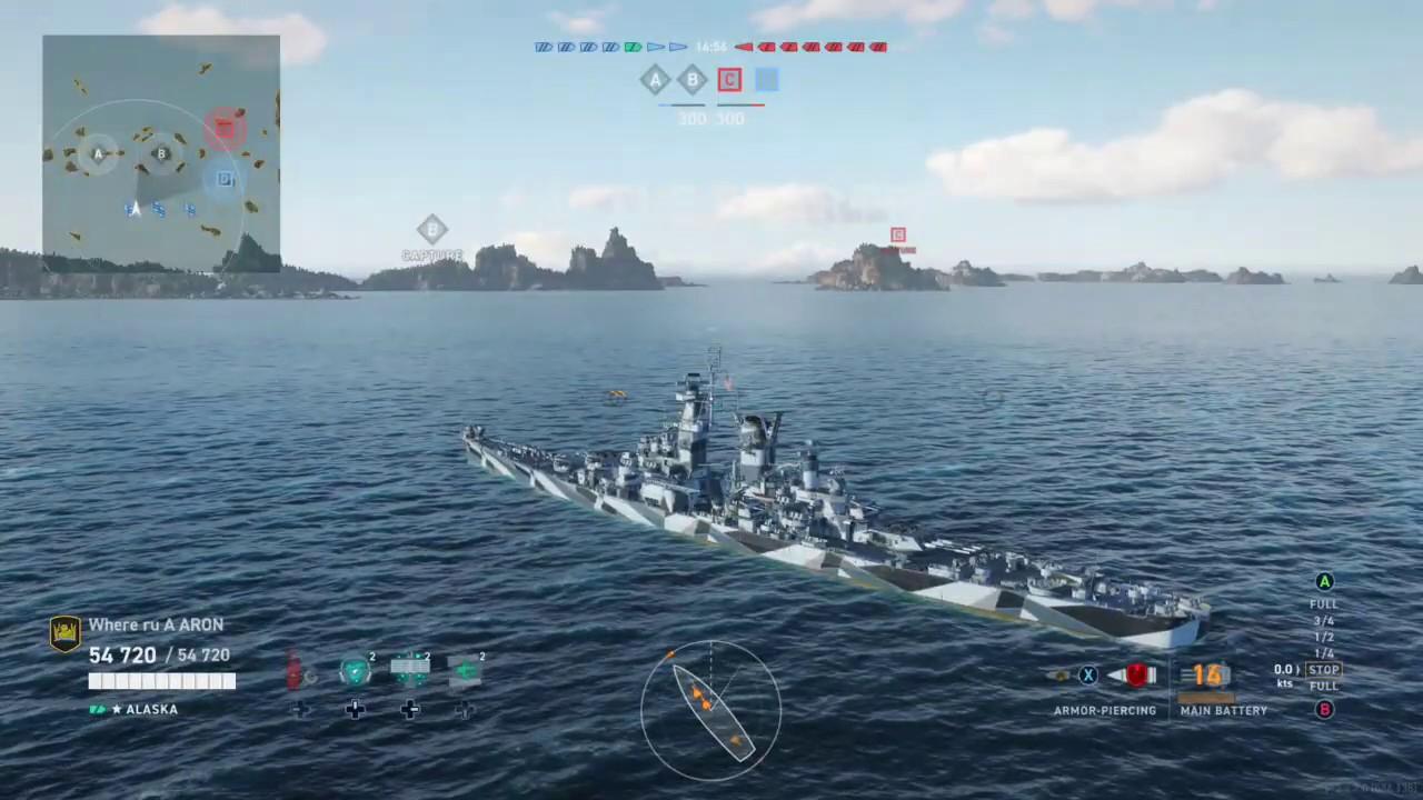 Battle of the legendary ships, Alaska vs Yamato! World of warships legends gameplay - YouTube
