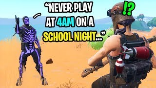 I played Fortnite at 4AM on a school night and instantly REGRETTED it...