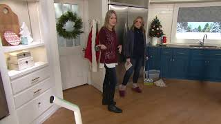 Nellie's Cordless Wow Mop with 4 Reusable Cleaning Pads on QVC