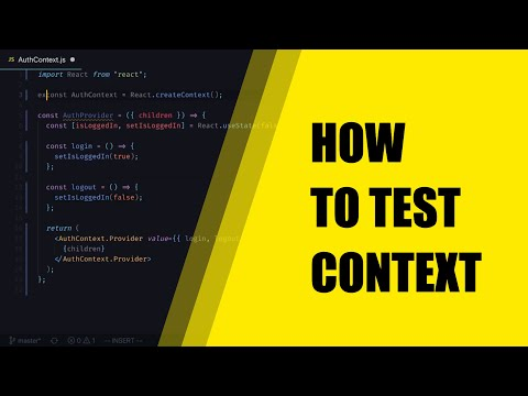 How To Test React Context Providers - Learn How To Test Context thumbnail