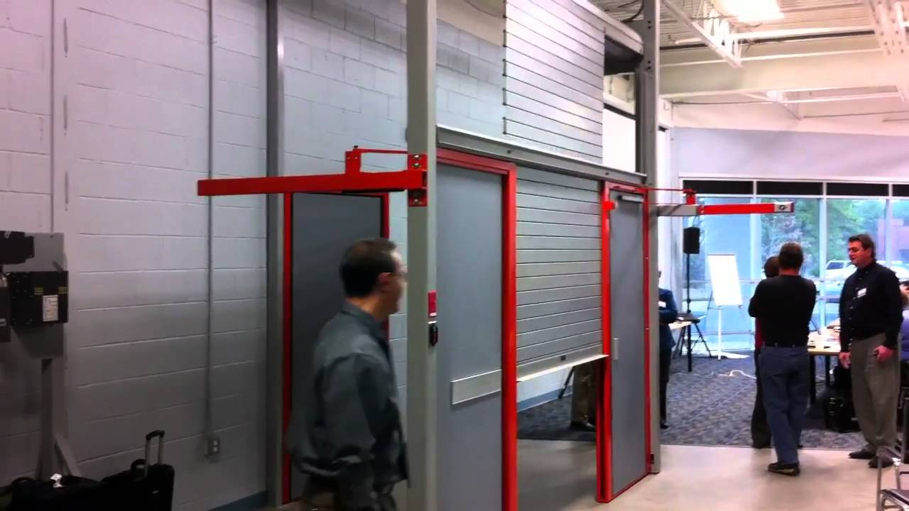McKeon Door - Overhead Coiling Fire Door with Egress (T2500) - YouTube