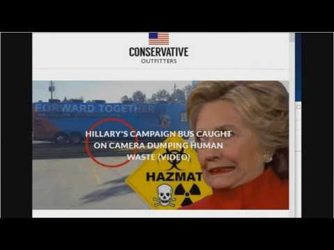 HILLARY'S CAMPAIGN BUS CAUGHT ON CAMERA DUMPING HUMAN WASTE IN 2 THE STREET (VIDEO)