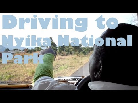 Driving to Nyika National Park in Malawi, Africa