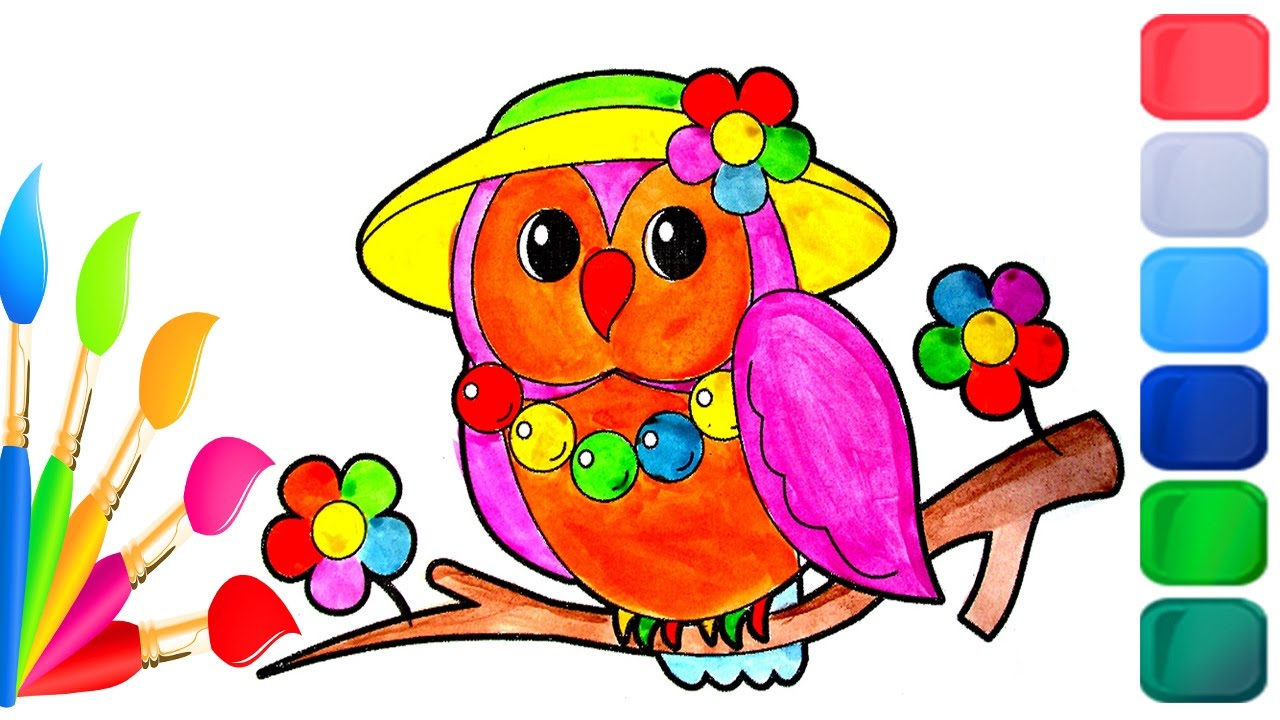 how to color cute baby animals coloring pages to learn colors