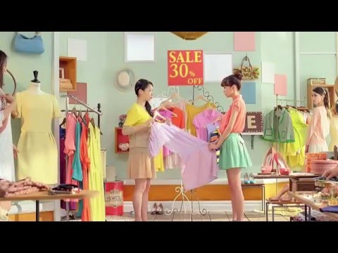 "Mirei Kiritani , Daihatsu cocoa ""My fashionable low fuel consumption theory"" commercial"