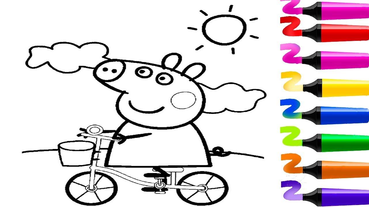 Dessin Facile A Colorier Et A Dessiner Peppa Pig Coloriage Facile