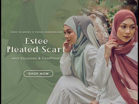 Hijab Tutorial | Zeez Scarves X Tasha Manshahar Pleated Scarves