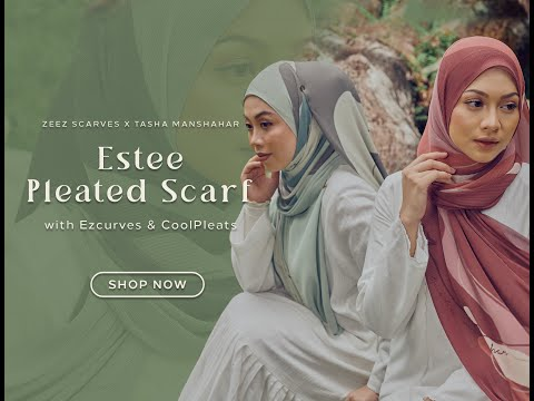 Hijab Tutorial | Zeez Scarves X Tasha Manshahar Pleated Scarves