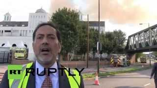 RussiaToday: London's Baitul Futuh Mosque goes up in flames