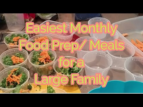 EASIEST  MONTHLY FOOD PREP/MEALS  for a LARGE FAMILY