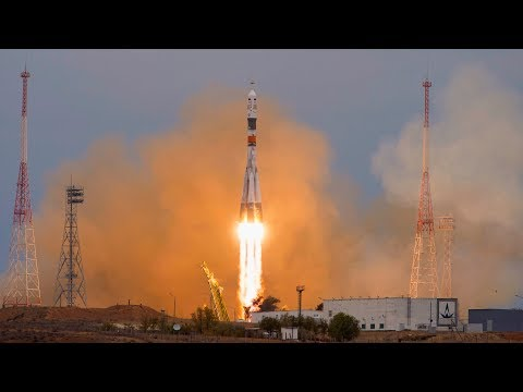 LIVE Soyuz 2-1a Launching Progress 69P ISS Resupply Craft After Umbilical Tower Delay