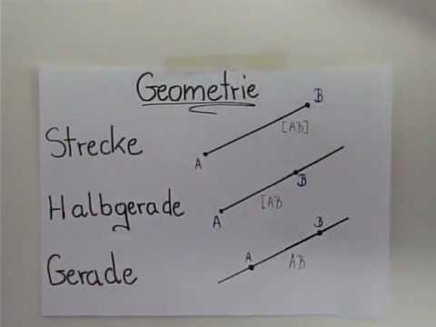Strecke, Gerade, Halbgerade - YouTube