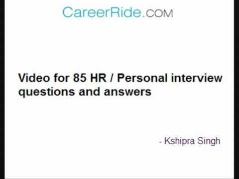 human resource manager interview questions and answers