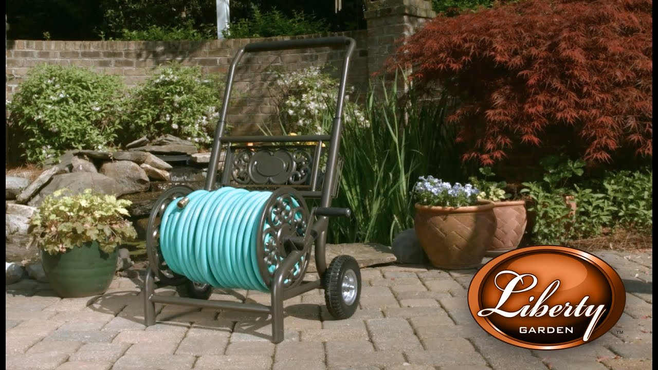 Liberty Garden Model 301 Decorative Hose Cart YouTube
