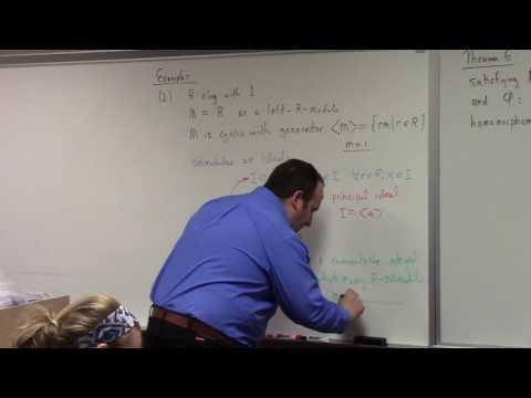 Abstract Algebra II: free module construction, extending scalars, 3-8-17