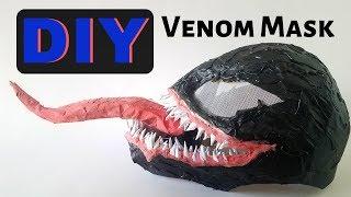 Venom Mask Cardboard DIY