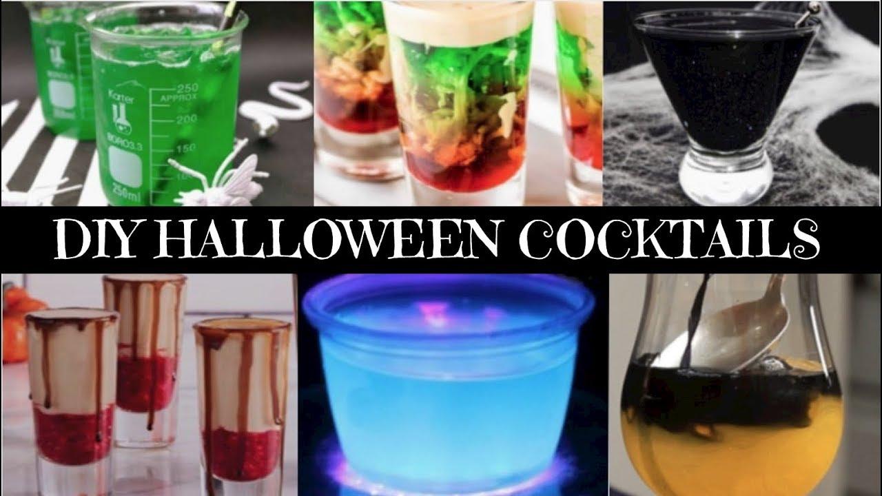 diy easy halloween cocktails