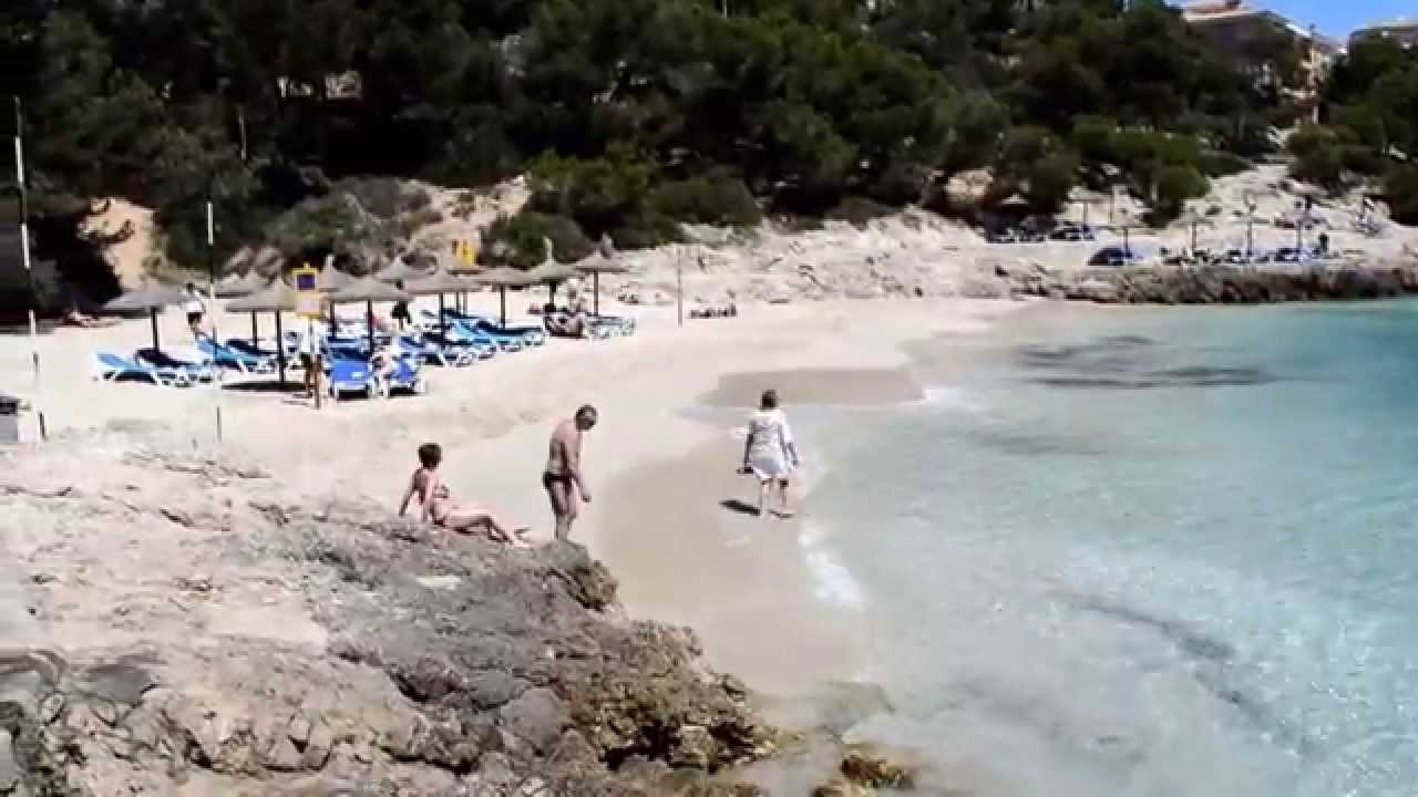 illetas beach Majorca - YouTube