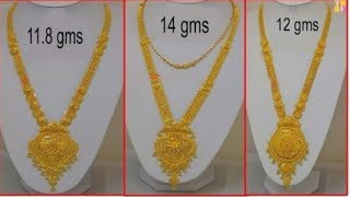 Latest Gold Long Necklace Designs