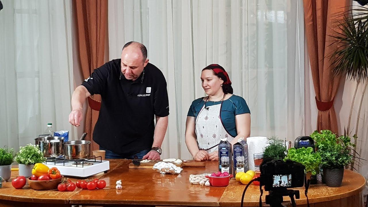Илья Лазерсон на Галиной Кухне. Готовим Грузинское блюдо.