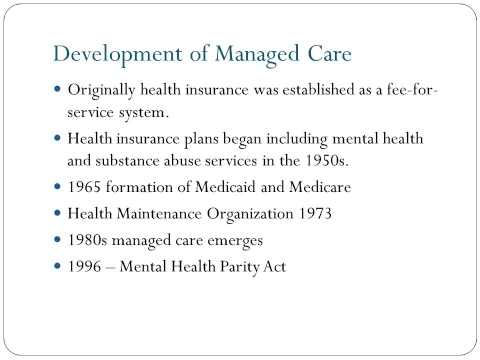 Managed Care and Third Party Reimbursement