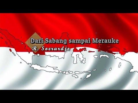 [Karaoke] 🎵 R. Soerardjo - Dari Sabang Sampai Merauke 🎵 +Lirik Lagu [PIANO]