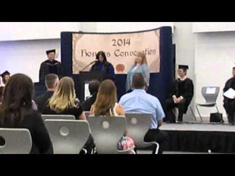 2014 NAU Yuma Honors Convocation-BBA Student of the Year Award- Monica Dockery
