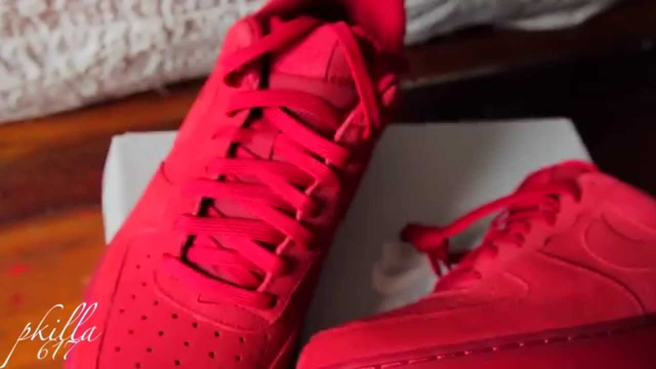 460ee941cbf air force 1 red october review and unboxing.. - YouTube