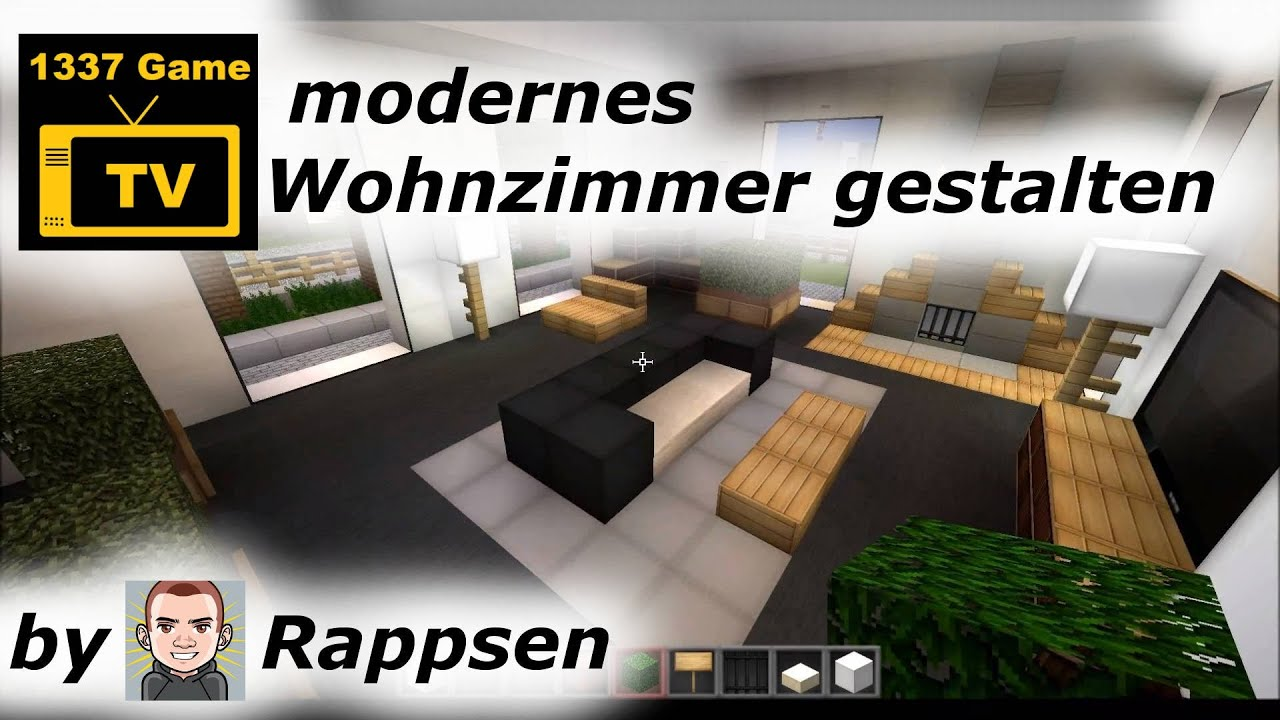minecraft let s play modernes wohnzimmer gestalten. Black Bedroom Furniture Sets. Home Design Ideas