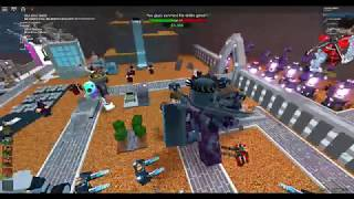 4 players beating the Void-Roblox tower battles