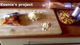 Салат с фасолью и сухариками. Вкуснятина:)
