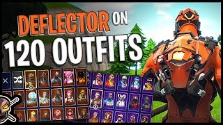 Deflector Back Bling on 120 Outfits | Vertex - Fortnite Cosmetics