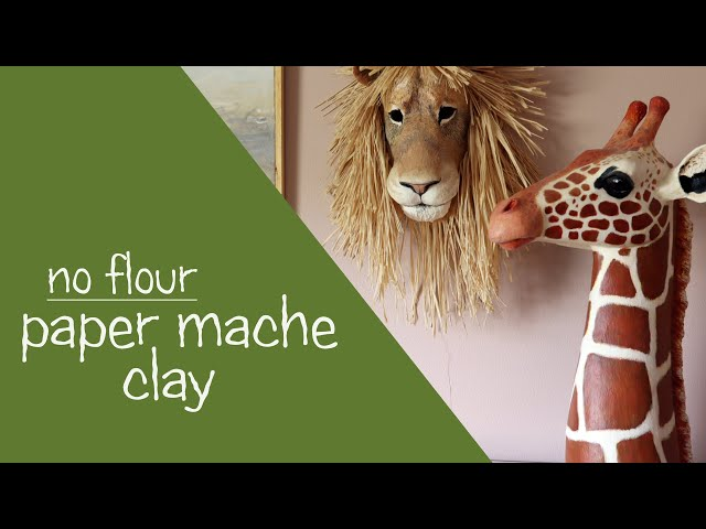 Paper Mache Clay - YouTube