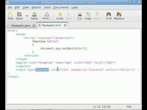 how to run java applet from javascript