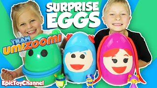 GIANT TEAM UMI ZOOMI Surprise Eggs Filled Surprise Toys, Peppa Pig & Paw Patrol by Epic Toy Channel