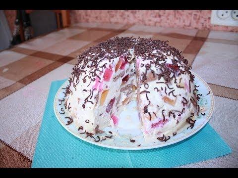 Торт Битое стекло видео рецепт приготовления Торт Бите скло просто і смачно Торт без выпечки