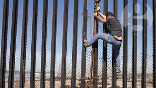 Palestinian artist at Mexico/US border: 'Can I jump?' | Crossing the line