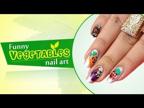 funny vegetable nail art  do it yourself  khoobsurati