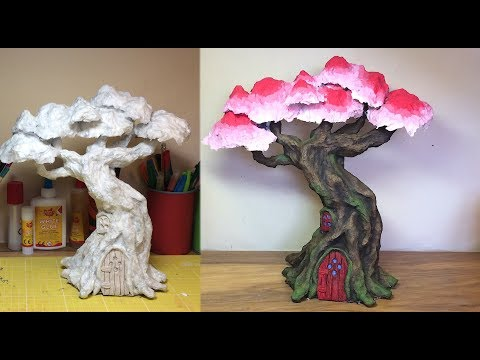 How To Make a Paper Mache Fairy/Elf Treehouse