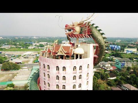 Amazing Dragon-building in Thailand