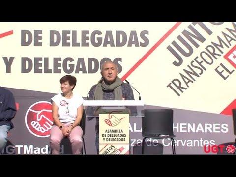 Intervención de Pepe Álvarez en la asamblea de delegadas y delegados de UGT en Alcalá de Henares